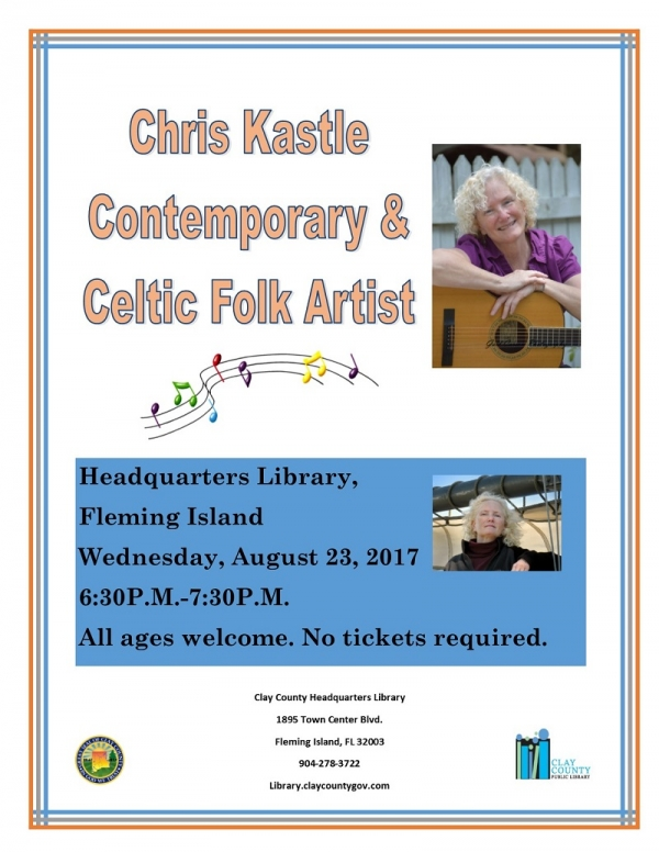 Chris Kastle in Concert at Clay County Headquarters Library