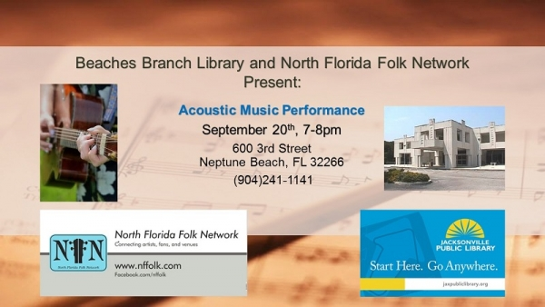 Beaches Library Acoustic Performance Presented by NFFN